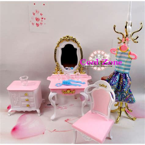 barbie doll house furniture for sale aliexpress com buy free shipping 4 items dresser set miniature dollhouse furniture