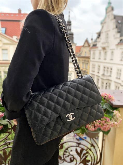 chanel jumbo classic double flap bag caviar noir