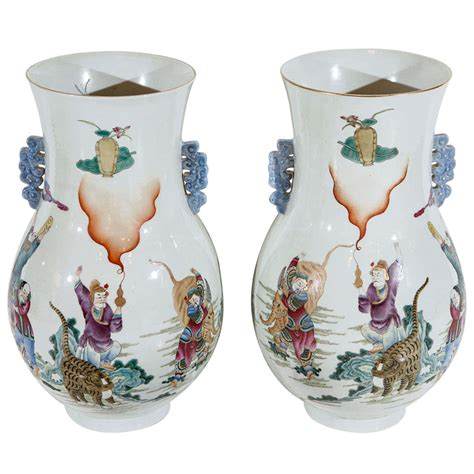 Colorful Vases For Sale Colorful Republic Period Vases For Sale At 1stdibs
