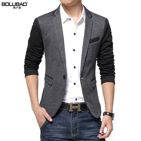 Blazer Pria Blazer Styli 2017 new fashion casual blazer cotton slim korea style