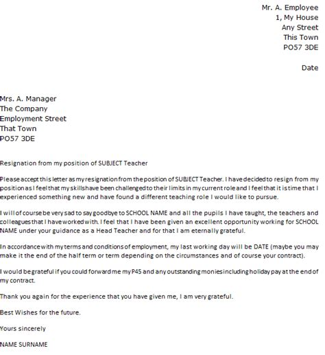 sle teaching resignation letters letter of employee contract termination 28 images sle