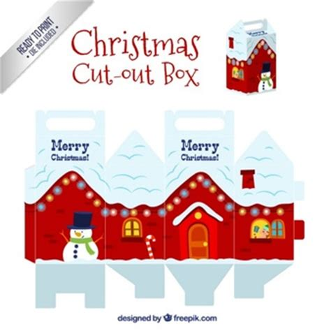 christmas box house free vectors 73 900 files in ai eps svg format