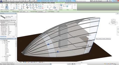 revit tutorial conceptual mass revitcity com add beams conceptual mass