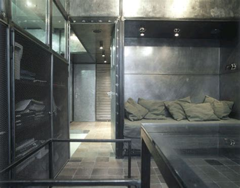 metal room industrial interior modern metal apartment design
