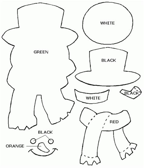snowman templates to cut out image result for http www freecraftunlimited