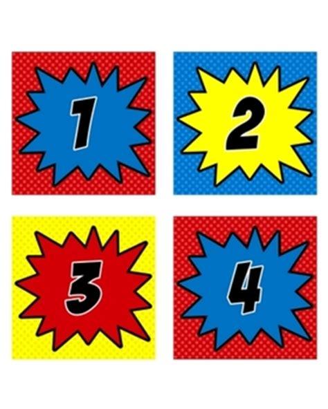 printable superhero numbers superhero numbers super hero theme by three busy besties