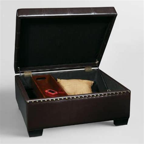 market storage ottoman espresso bi cast leather bowen storage ottoman market