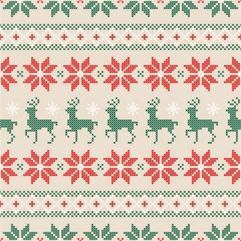 pattern christmas free vector knitted fabric christmas pattern vector set 05 vector