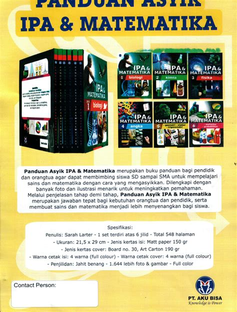 Panduan Asyik Ipa Dan Matematika Buku Ensiklopedia Anak Dan Buku Islami Anak 7 Panduan