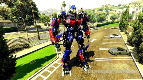 mod gta 5 transformers optimus prime add on ped gta5 mods com