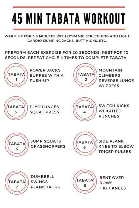 45 min tabata workout exercise