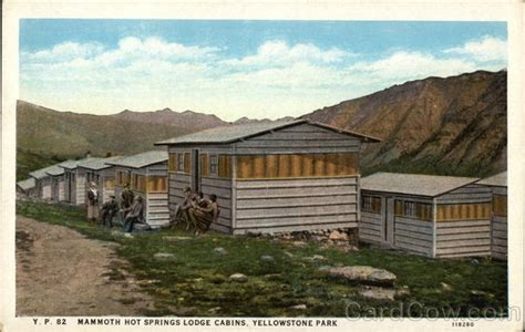 Mammoth Springs Hotel And Cabins Yellowstone National Park Wy by Mammoth Springs Lodge Cabins Yellowstone National Park Wy