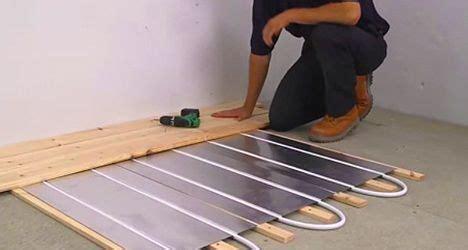 Underfloor heating   The Self Builder   The Self Builder