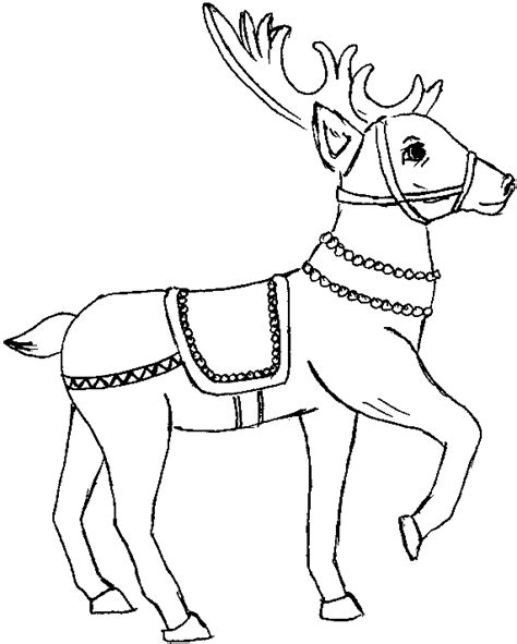 coloring pages of christmas reindeer prancer colouring pages