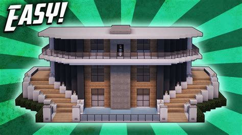 Minecraft: How To Build A Modern Mansion House Tutorial