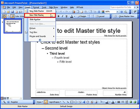 title master in powerpoint 2003 powerpoint tutorials