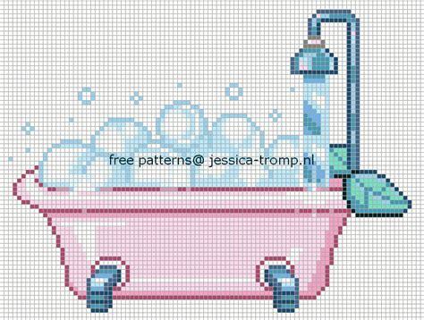 grille baignoire salle de bains bathroom baignoire point de croix