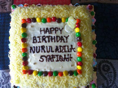 alyiaz cakes happy birthday nurul adila syafiqah