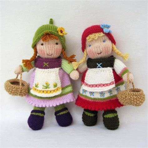 pattern knitting doll fern and flora knitted dolls knitting pattern by