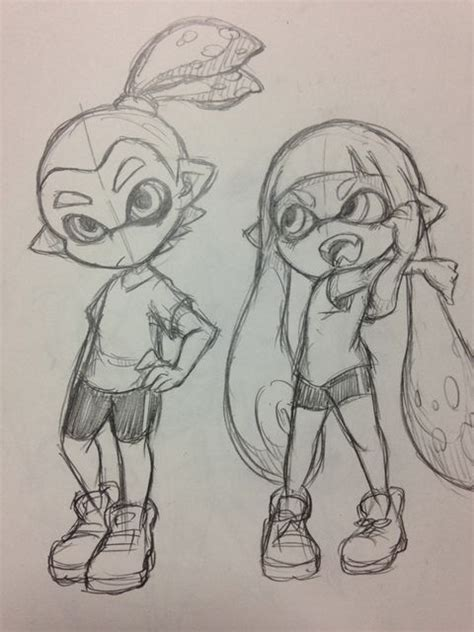 Splatoon 2 Sketches by Wow I Want To Be Able To Draw That