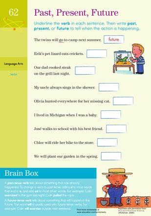 past present and future worksheets grammar worksheets