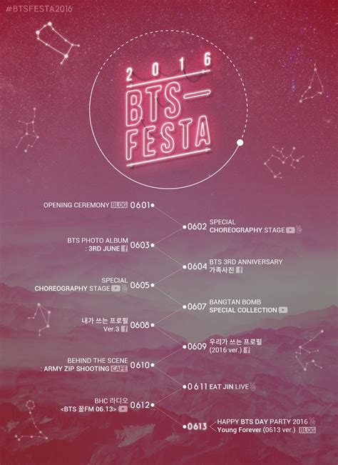 bts schedule bts announces plans for 2016 anniversary festa jam packed