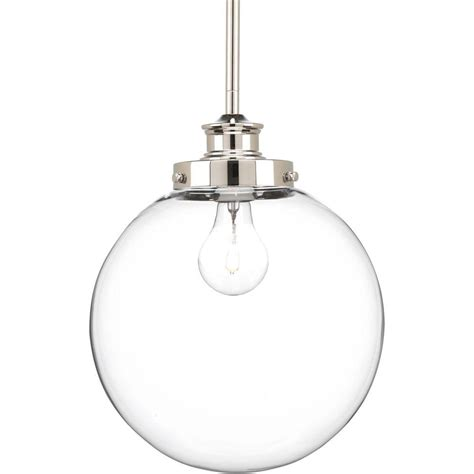 Progress Lighting Penn Collection 1 Light Polished Nickel Polished Nickel Pendant Lights