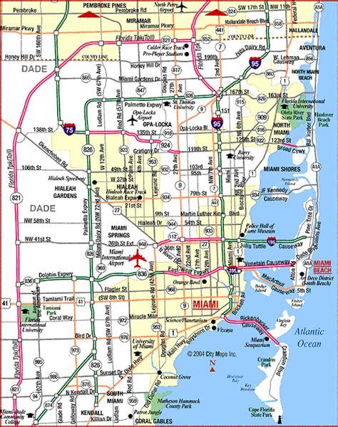 miami map free printable maps