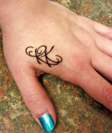 hand tattoo initials initials quot rk quot tattoo picture at checkoutmyink com