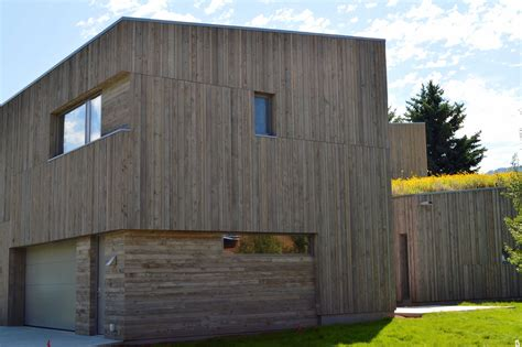 mountain modern architecture uses aquafir siding - Modern Siding
