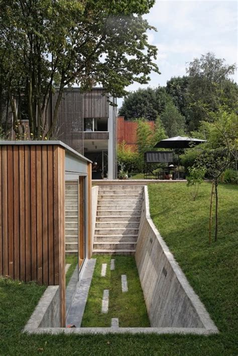 Backyard Workshop by Grassy Getaway Detached Backyard Workshop Hides In Hillside