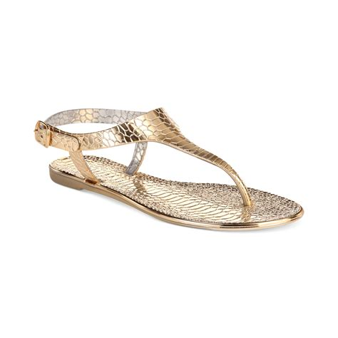 gold jelly sandals rage oliver hooded jelly sandals in gold lyst