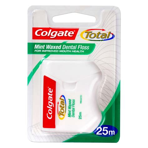 Dental Floss And buy total dental floss mint waxed 25 m by colgate priceline