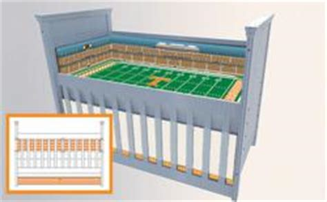 football crib bedding stadium cribs launches two new custom baby bedding sets
