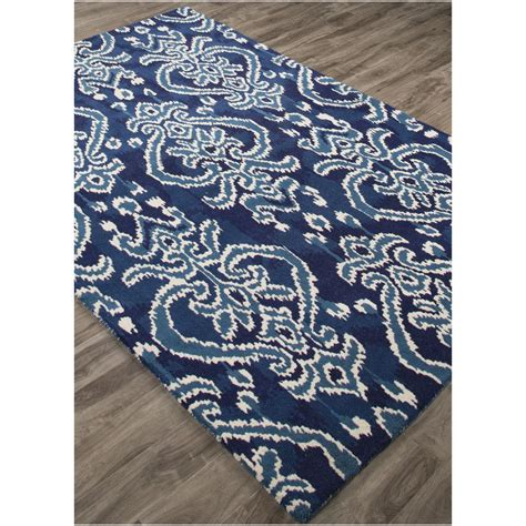 royal blue and white rug at home 8 x 10 royal blue and white transitional serrano ikat tufted wool area throw