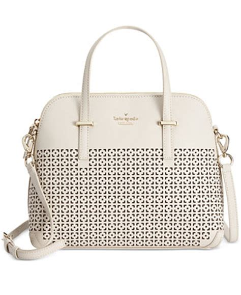 Kate Spade Maise Cedar Perforated Satch Bag kate spade new york cedar perforated maise satchel