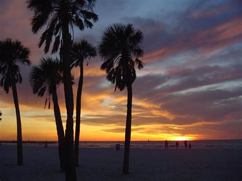 florida cool clearwater fl sunset at clearwater beach photo picture