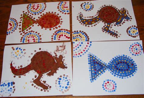 aboriginal craft for aboriginal for children on dot painting