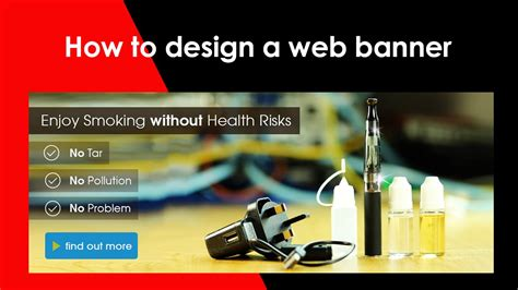 design banner with photoshop how to create web banner design in photoshop cs6 youtube