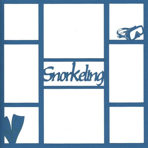 Scrapping Photos Of Your Trip by Snorkeling 12 X 12 Overlay Laser Die Cut