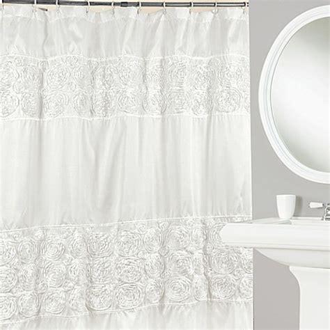 curtain rosettes rosette 72 inch x 72 inch shower curtain bed bath beyond