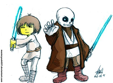 undertale frisk sans x frisk and sans undertale x starwars crossover by