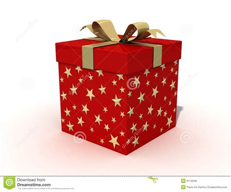 red christmas box royalty free stock photos image 6175948