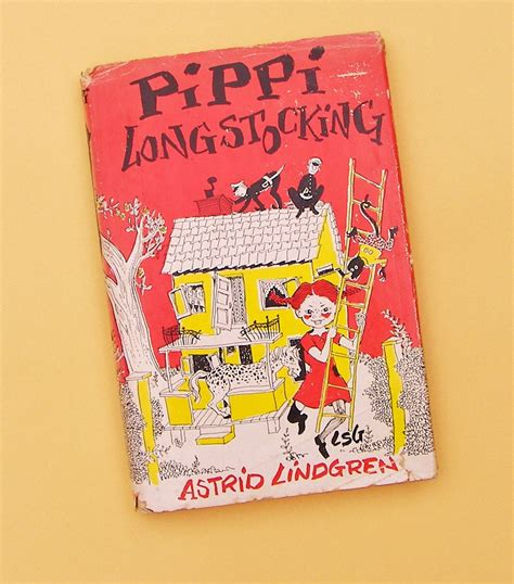 pippi longstocking picture book pippi longstocking by astrid lindgren 1950 book club edition