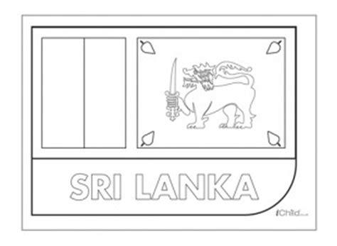 sri lanka flag colouring in picture flag of sri lanka