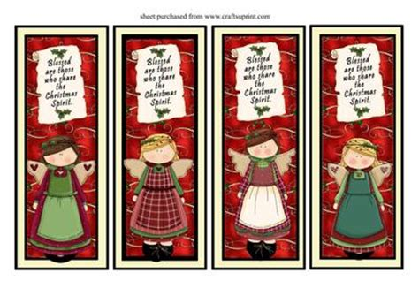 free printable angel bookmarks 5 best images of christmas angel printable bookmarks
