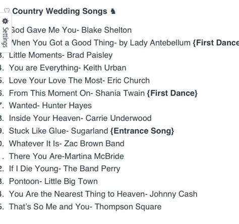 25  Best Ideas about Country Wedding Songs on Pinterest
