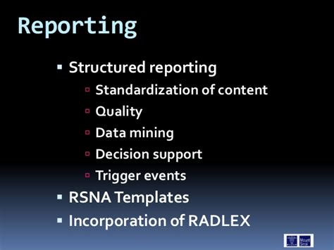 rsna reporting templates radiology it 2011