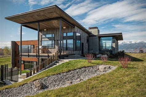 Rustic Modern Vacation Home In Wyoming Hiconsumption Modern Rustic Home Design Plans