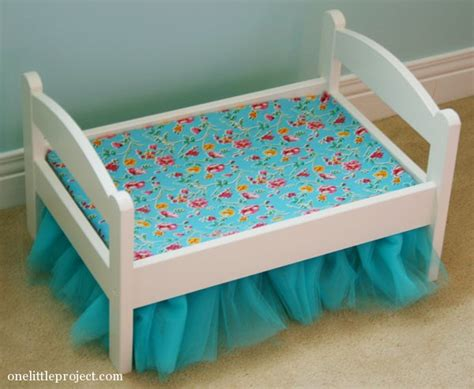 how to make a doll bed how to make a tulle bedskirt for an ikea duktig doll s bed